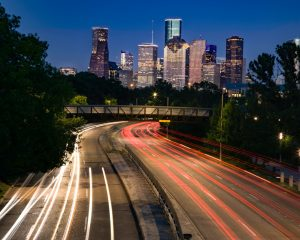City of Huston in Usa by night