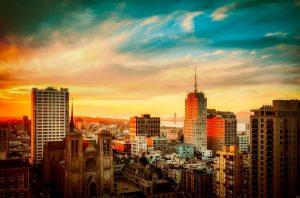 San antonio city sunset