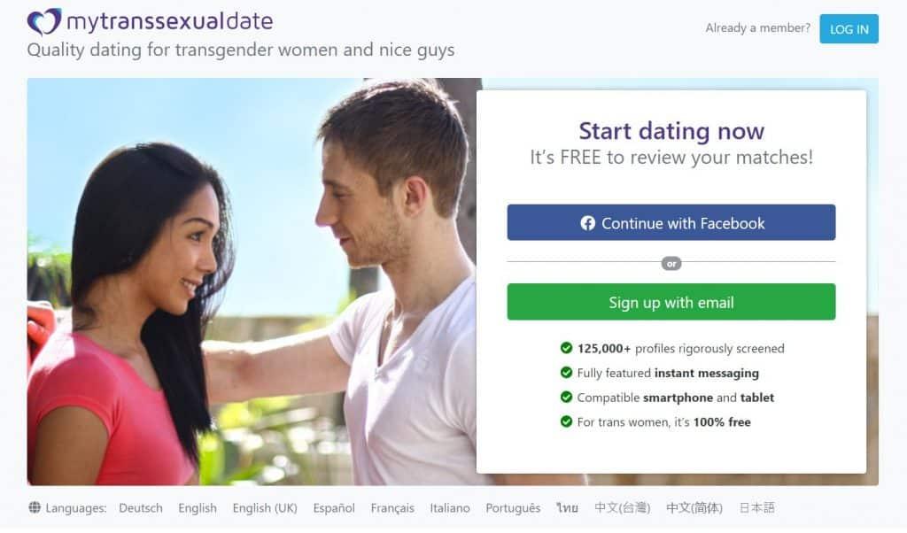 MyTransexualDate Homepage